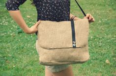 Handmade Guatemalan Coffee Sack Burlap Bag #handmadeabbalayne