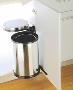 Auto Lid Waste Bin SS High grade stainless steel used makes the SS bin all the more successful under the sink unit. These can be easily installed and automatically opens with the shutter to make it more convenient to use. Contemporary Kitchen Interior, Sink Units, Shutter, Stainless Steel, The Unit, Canning, Decor, Utility Room Sinks, Home Canning