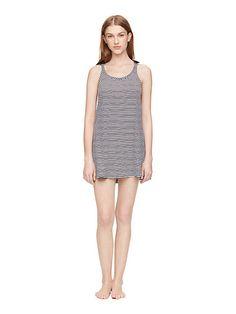 black stripe chemise - Kate Spade New York