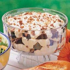 Brownie Mocha Trifle Recipe - also easy/mostly instant items