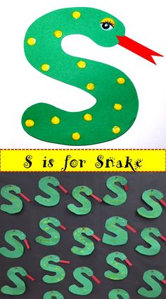 Letter S craft. So simple! You can find the complete set of crafts for all the upper case letters in my TpT store.