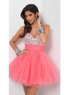 Splendid A-line Sweetheart Beading Short/Mini Tulle Dress