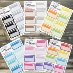 Half Box functional planner stickers, use ROXYSENTME for 20% off and a freebie!