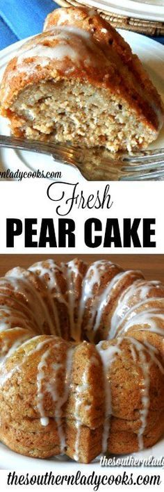 Fresh Pear Cake recipe is easy to make and one you will enjoy many times in the future. Pear cakes are delicious and a family favorite. Pear Recipes Easy, Fruit Recipes, Cupcake Recipes, Baking Recipes, Cupcake Cakes, French Recipes, Cupcakes, Vitamix Recipes, Blender Recipes