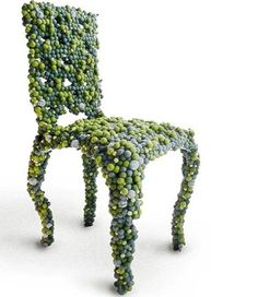 The Molecular Chair made of felt. This may be purchased on ecofirstart.com