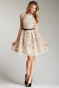 Polka dot dress, fun and flirty! HauteLook