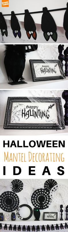 Decorating for Halloween made easy! We've got lots of ways for you to accessorize your mantle for this year's Halloween Festivities!