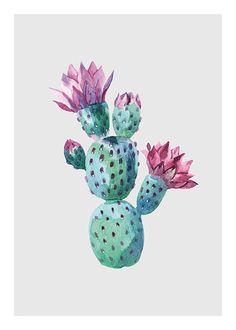 Image result for desenio flower cactus
