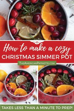 This easy DIY Christmas simmer pot recipe is such a simple way to make your house smell amazing for the holidays! You'll love this easy stovetop potpourri! Homemade Potpourri, Simmering Potpourri, Stove Top Potpourri, Pot Recipe, House Smell Good, House Smells, Homemade Christmas, Christmas Home, Xmas