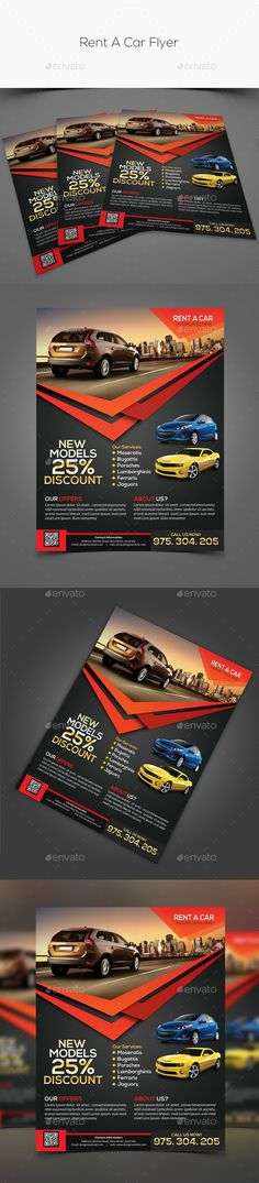 Rent A Car Flyer u2014 Photoshop PSD #meeting car #sightseeing car - car flyer template