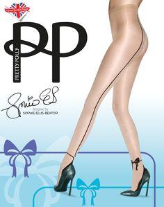 f1ec9b05e32 Pretty Polly Bow Backseam Tights designed by Sophie Ellis-Bextor