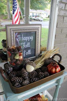 """""""Happy Fall Y'all"""" Chalkboard Art Tutorial"""