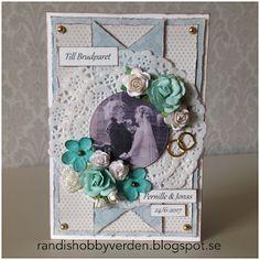 Randis hobbyverden: Bryllupskort med papir fra Pion