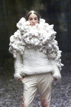 Lauren, Birthday present for you? Knitwear Fashion, Knit Fashion, High Fashion, Missoni, Alexander Mcqueen, Sonia Rykiel, Ugly Sweater Party, Textiles, Pulls