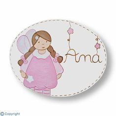 Placa de puerta personalizada: Hada (ref. 19118-01)