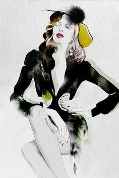 Awesome Fashion Illustrations by Cacilia Carlstedt http://www.cruzine.com/2012/12/13/awesome-fashion-illustrations-cacilia-carlstedt/