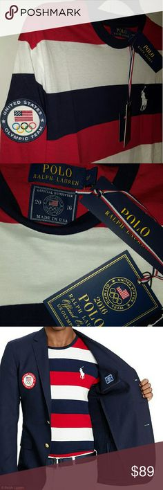 Team USA Opening Ceremony Uniform Sold out on Ralph Lauren's stores and site-  Official long sleeve Rio Olympic Polo Shirt. Runs big, small fits more like a loose medium Polo by Ralph Lauren Tops Tees - Long Sleeve