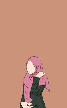 I'm still me with ma condition (I'm sick with your attitude) Cartoon Girl Images, Girl Cartoon, Cartoon Art, Illustrations, Illustration Art, Cover Wattpad, Hijab Drawing, Islamic Cartoon, Anime Muslim