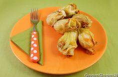 • Fiori di zucca al forno - Le ricette di GnamGnam - Ricette con foto passo passo