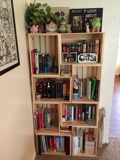 Wooden crate bookcase ideas - Wooden crate bookcase ideas The Effective Pictures We Offer You About room decor for couples A - Room Ideas Bedroom, Bedroom Decor, Crate Bookcase, Bookshelves In Bedroom, Dream Rooms, House Rooms, Diy Furniture, Diy Home Decor, Decoration