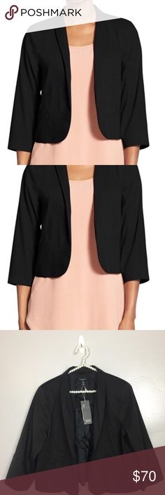 """Eileen Fisher Shawl Collar Crop Jacket Eileen Fisher Shawl Collar Crop Jacket Black Petites Large PL NWT Msrp $338  pit to pit 19"""" length 21"""" Eileen Fisher Jackets & Coats"""