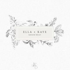 Floral logo design by Kelcie Saunders | http://etsy.me/2wOrpuD