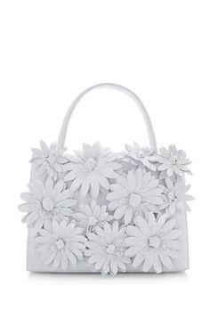 White Crocodile Skin Top Handle Bag by Nancy Gonzalez for Preorder on Moda Operandi Fashion Handbags, Purses And Handbags, Fashion Bags, Leather Handbags, Beautiful Handbags, Beautiful Bags, Tennis Whites, Designer Totes, Designer Bags