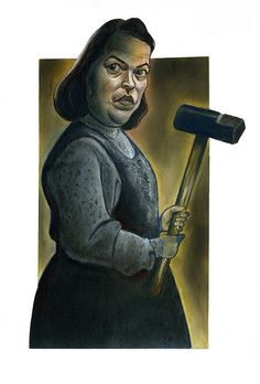 Kathy Bates in Misery by Caricature80,