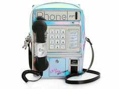 Betsey Johnson Telefon Tag Umhängetasche – Angelica My Home Photos Folles, Betsey Johnson, Telephone Retro, Cute School Supplies, Cool Inventions, Toys For Girls, Baby Girl Toys, Cute Bags, Cool Things To Buy