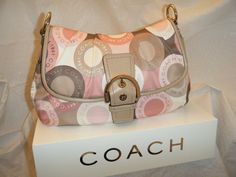 Coach Soho Sateen Snaphead flap bag. Starting at $30 on Tophatter.com!