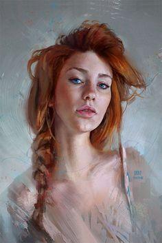 http://Paintable.cc   50 Stunning Digital Painting Portraits: Thiago Moura Januário