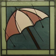April 12 X 12 Stained Glass Rain On Umbrella Quilt by GommStudios