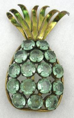 Jolle Sterling Pineapple Brooch - Garden Party Collection Vintage Jewelry