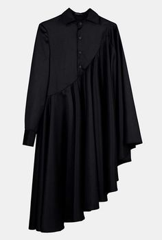 Bat Sleeve Loose Fit Cape-Style Blouse Shirt Asymmetrical pleated Skirt Dress Tunic - Dresses for Work Abaya Fashion, Modest Fashion, Fashion Outfits, Pleated Skirt, Dress Skirt, Shirt Skirt, Abaya Mode, Hijab Style Dress, Hijab Stile