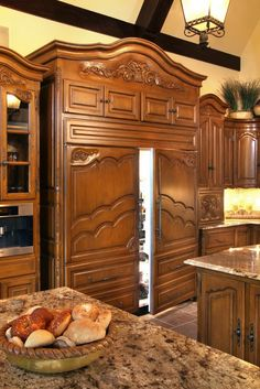 Sub Zero Refrigerators in Kitchen by Chateau Designs