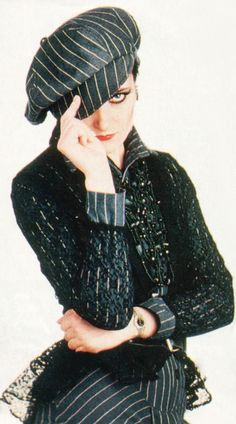 I'd love it if Siouxsie Sioux dressed androgynous more often. She looks absolutely stunning.