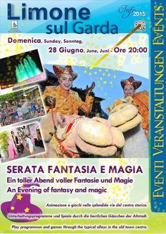 A Limone sul Garda domenica 28 giugno 2015 ha luogo la Serata Fantasia e Magia @gardaconcierge