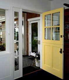 Dutch Door Entry Design in Yellow