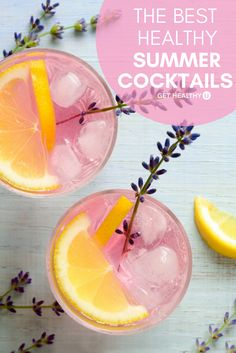 We decided to collect and share our favorite low-calorie cocktails to make your next summer party a hit without any trial and error. These healthy drinks are made with simple ingredients instead of high-calorie, sugar-filled mixes that can leave you with Easy Summer Cocktails, Healthy Cocktails, Tea Cocktails, Cocktail Recipes, Drink Recipes, Healthy Recipes, Low Calorie Alcoholic Drinks, Low Calorie Mixed Drinks, Healthy Mixed Drinks