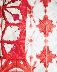 Red Shibori Paper - http://www.sweetpaulmag.com/crafts/red-shibori-paper #sweetpaul