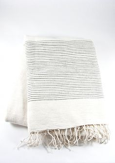 grey ribbed beach towel