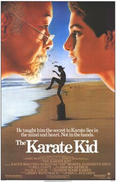 Love these karate kid movies. These karate kid versions are my most favorite ones I've ever seen. The Karate Kid 1984, Karate Kid Movie, Karate Karate, Karate Girl, See Movie, Movie Tv, 1984 Movie, Movie List, 80s Movie Posters