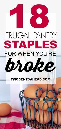 These 18 ultra frugal pantry staples are a must-have for any frugal budget! #Frugal #FrugalLiving #SavingMoney #Money