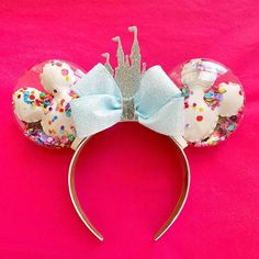 Celebration Confetti Castle Ears - Celebration Confetti Castle Ears – HappilyEarverAfter Best Picture For diy furniture For Your T - Disney Diy, Disney Cute, Diy Disney Ears, Disney Crafts, Walt Disney, Disney Stuff, Disney Bows, Disney Trips, Disney Prom