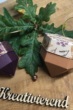 Für unseren BlogHop vom Team StempelPalast habe ich diese tollen kleinen dekorativen Verpackungen im herbstlichen Design gebastelt. Da passt mehr rein als man vermuten würden. #kreativierend #bloghop #stampinup #su #bastelninrastede #kreativinrastede #stempelpalast #herbstlichedeko #tischdeko #verpackungbasteln #herbst Stampinup, Container, Gift Wrapping, Gifts, Food, Design, Papercraft, Stocking Stuffers, Arts And Crafts