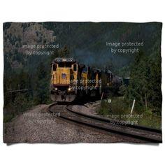 Mountain Train Double Layer Fleece Blanket 60x80 at http://www.visionbedding.com/mountain-train-double-layer-fleece-blanket-60x80-p-3163491.html Mary, for Dick???
