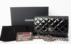 848d4af06af8 Authentic Chanel Wallet On Chain Black Patent Mini Flap Bag New 1 items on  MALLERIES