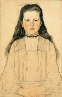 Portrait of a young girl  William Strang