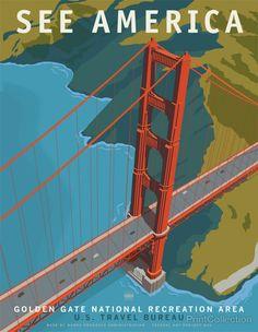 affiche usa moderne 02 620x800 Affiches touristiques américaines modernes