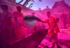 The Hindu festival of Holi is under way in India. The two-day celebration signifies the victory of good over evil and marks the end of winter and the arrival of spring Holi Colors, Colours, Thriller, End Of Winter, Hindu Festivals, Color Powder, Colorful Pictures, The Guardian, Victorious